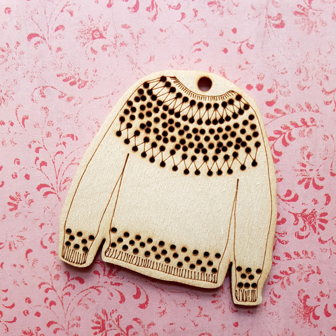 Katrinkles Stitchable Sweater Ornament