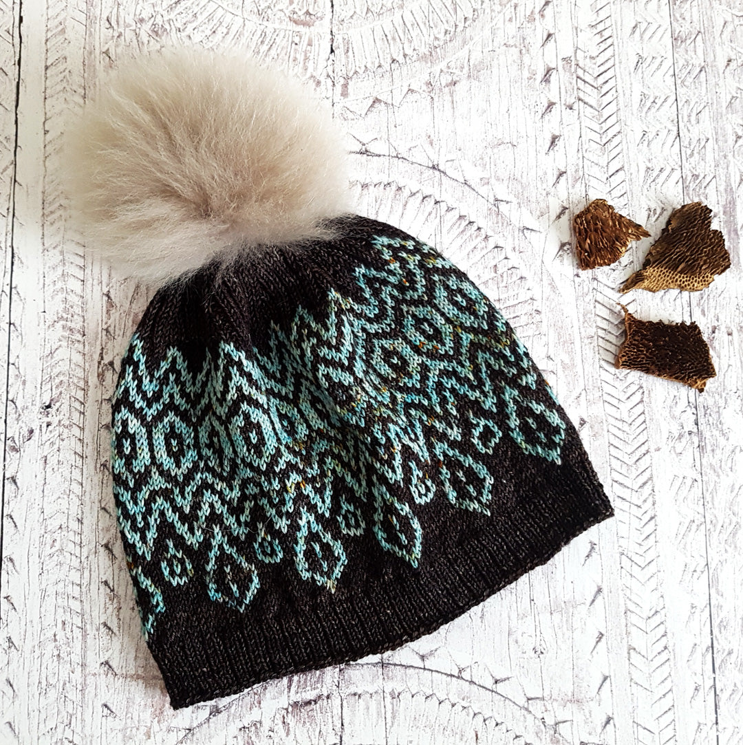 Handmade Morgan Hat - Teal & Chocolate (In Stock, Ready to Ship) - OOAK