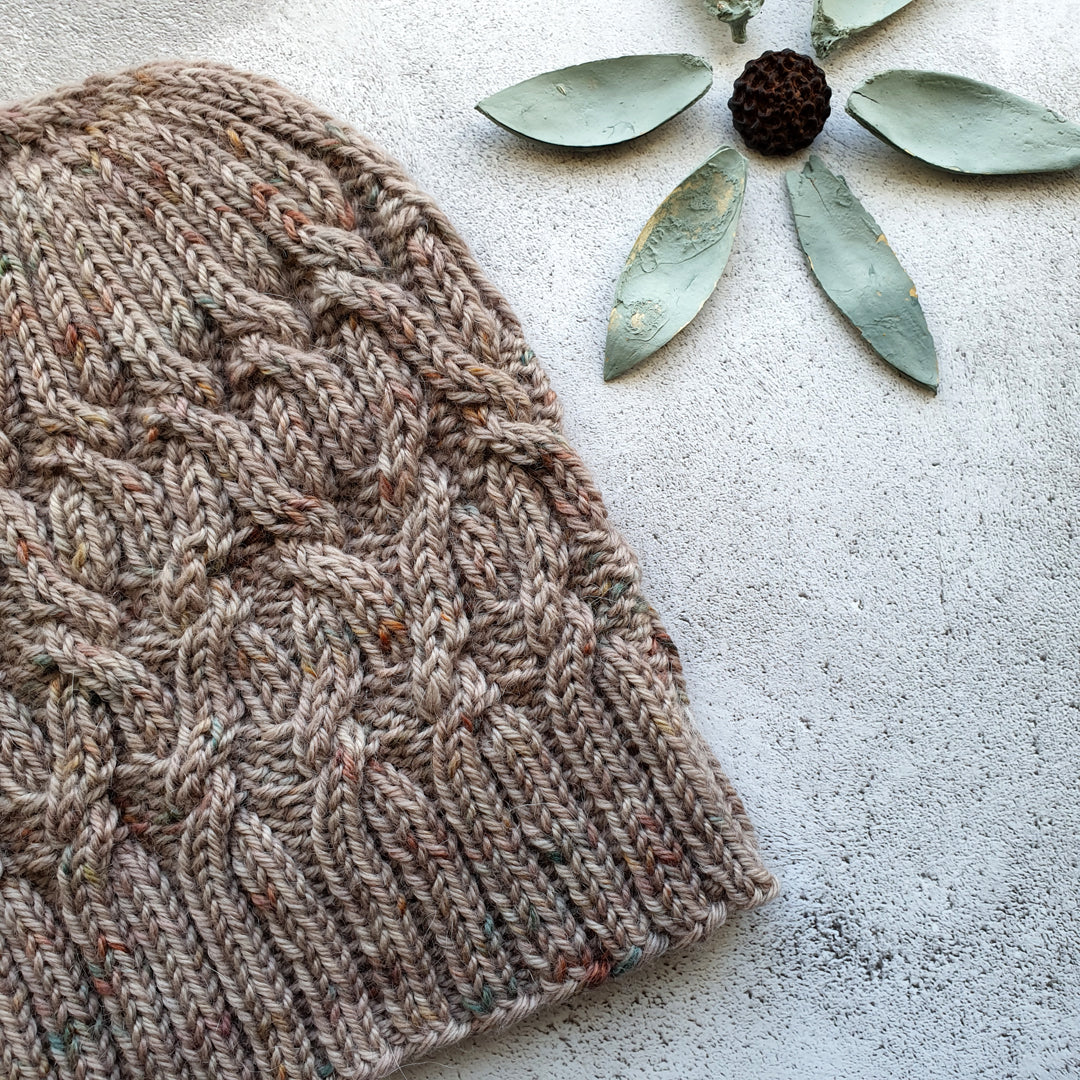 Twisted Logic Hat Knitting Pattern - HFS Original - Downloadable PDF