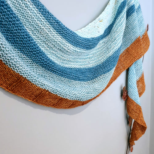 Wapping Wharf Shawl Pattern - HFS Original - Downloadable PDF