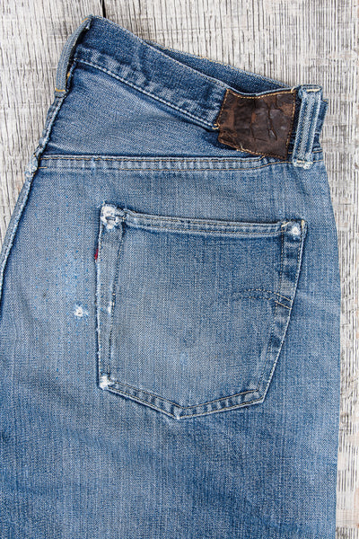 Repairing a pair of original vintage Levi's Big E