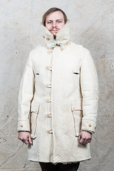 "Second Sunrise Archive: Vintage Swedish Army Shearling Survival Coat ""Livpäls M/1916"""