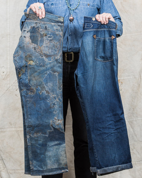 The reconstruction of a pair of 1870's miner's jeans