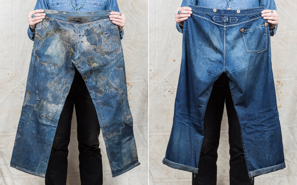 Vintage miners jeans reconstruction