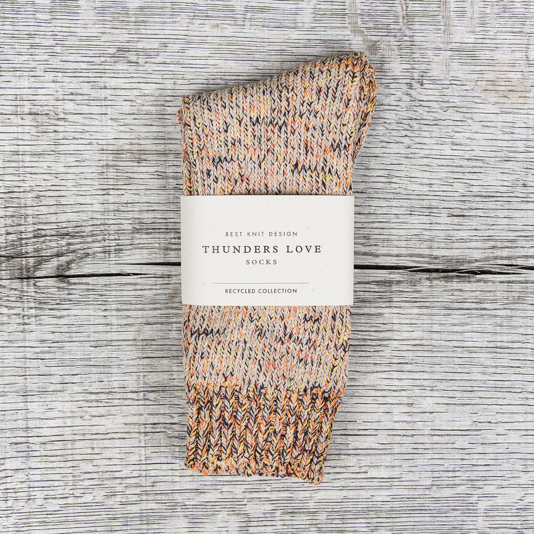 Thunders Love Recycled Cotton Socks True Camel