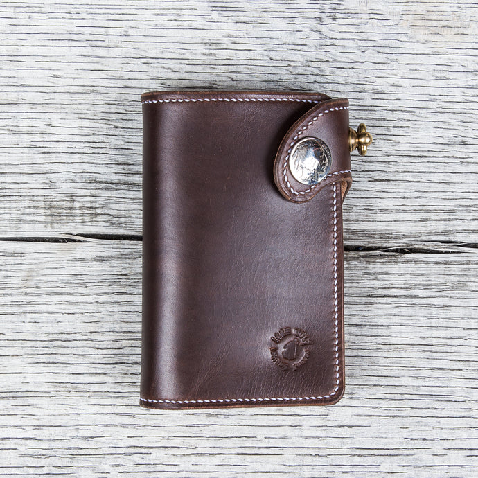 Lone Wolf Leathers Handmade Medium Wallet Horween Chromeexcel Brown