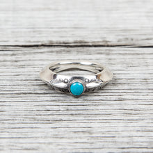 Larry Smith Triangle Turquoise Ring RG-0046