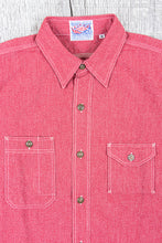 Sugar Cane 1935 5.75oz Cotton Covert Red Chambray Shirt