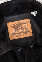 Indigofera Copeland Black Rough Out Leather