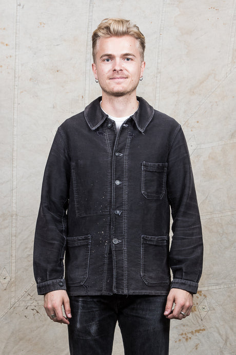 Vintage Frence Moleskin Workwear Jacket