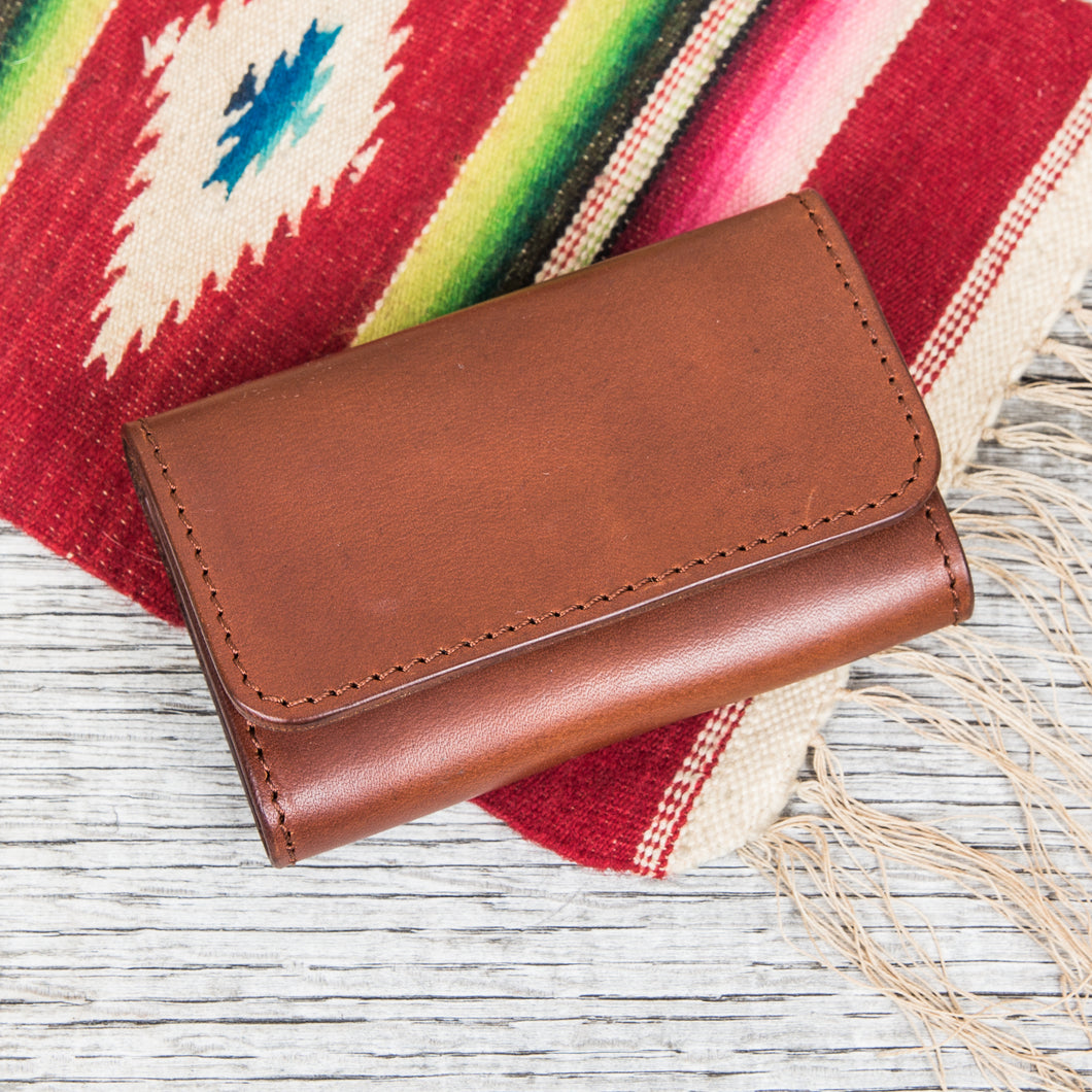 Larry Smith Leather Card Case LT-0065 Brown