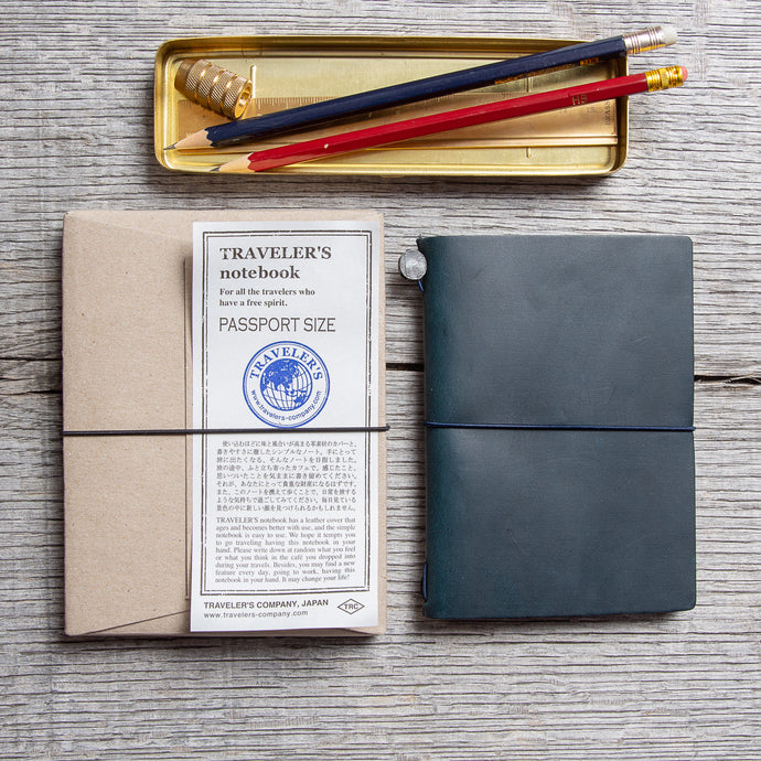 Traveler's Company Notebook Passport Size Blue