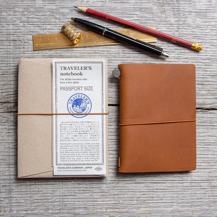 Traveler's Company Notebook Passport Size Camel