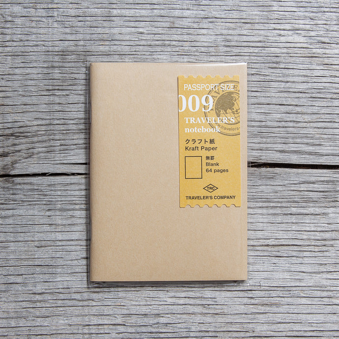 Traveler's Company #009 Passport Size Notebook Kraft Paper Refill
