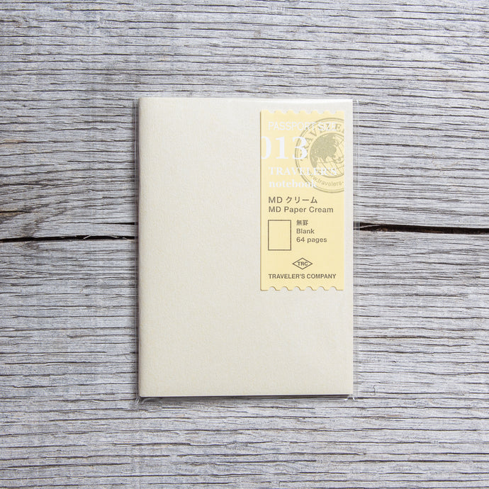 Traveler's Company #013 Passport Size Notebook MD Paper Cream Refill