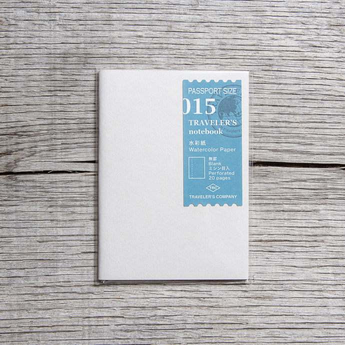 Traveler's Company #015 Passport Size Notebook Watercolor Paper Refill