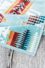Pendleton Hand towel Chief Joseph Aqua