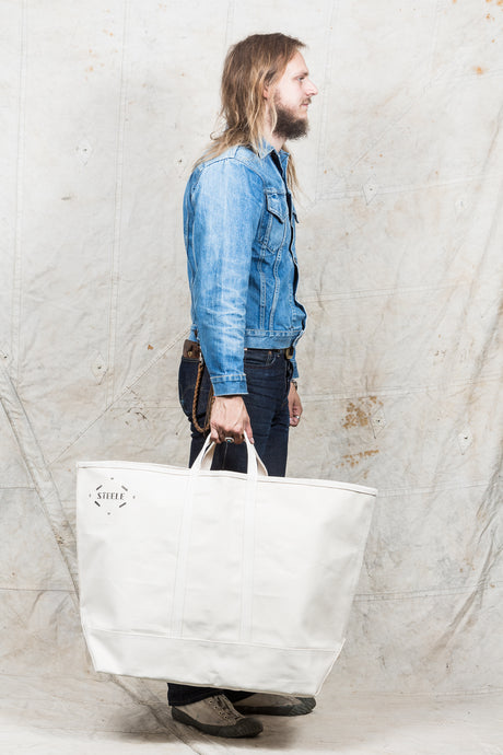 Steele Natural Canvas Tote Bag #183