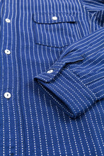 Momotaro Stitch Stripe Lagran Sleeve Work Shirt