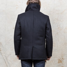 Schott Pea Coat Navy 32 Oz Melton wool
