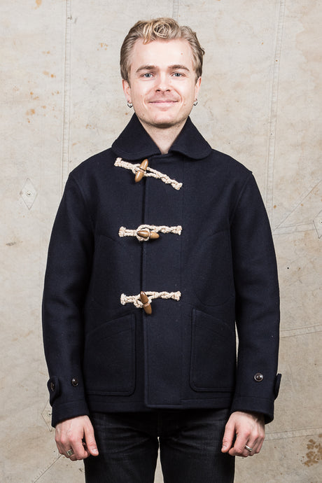 Buzz Rickson's Short Wool Duffle Coat Navy