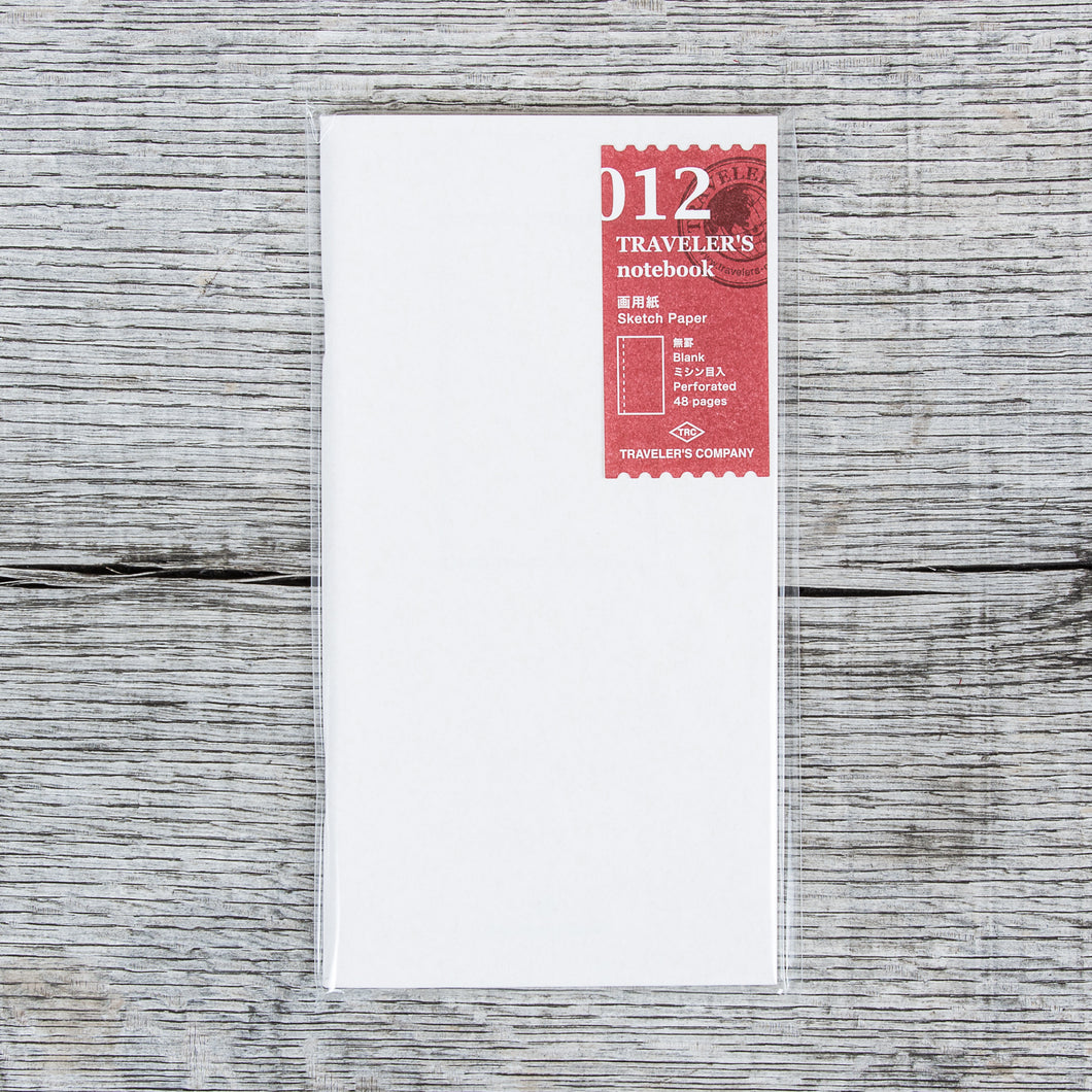 Travelers Company #012 Regular Notebook Refill Sketch Paper