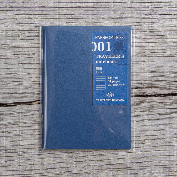 Traveler's Company #001 Passport Size Lined Notebook Refill