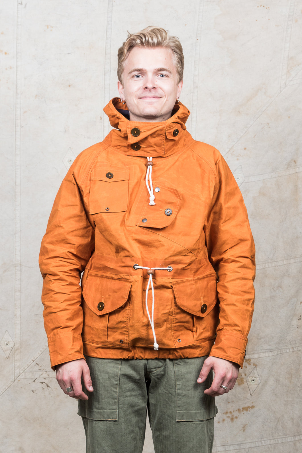 Hawkwood Mercantile Canoeist Smock Orange Waxed