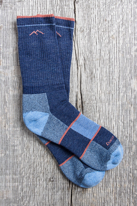 Darn Tough Womens Wool Socks Hiker Boot Sock Full Cushion Denim
