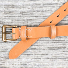 Warehouse & Co Slim Leather Belt Tan