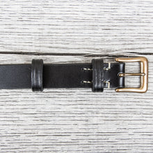 Warehouse & Co Slim Leather Belt Black