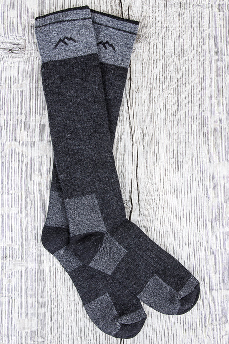 Darn Tough Wool Socks Hunter Over the Calf Extra Cushion Charcoal