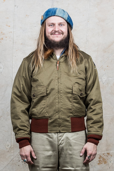 Buzz Rickson's B-10 Jacket Superior Togs red knit