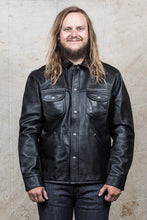 Indigofera Eagle Rising Black Horsehide Leather Jacket