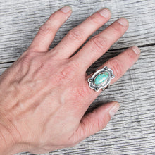 Larry Smith 4Point Turquoise Ring RG-0065