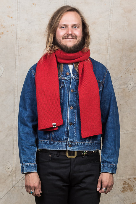 Heimat Wool Scarf Safety Red