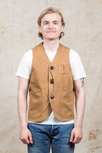 Second Hand Rising Sun Jeans & Co. Duck Canvas Tan Vest Size Small