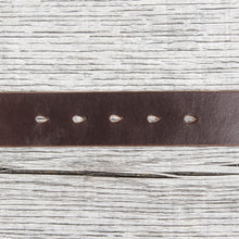 Lone Wolf Leathers Belt Horween Chromexcel Flat Square Brass Buckle