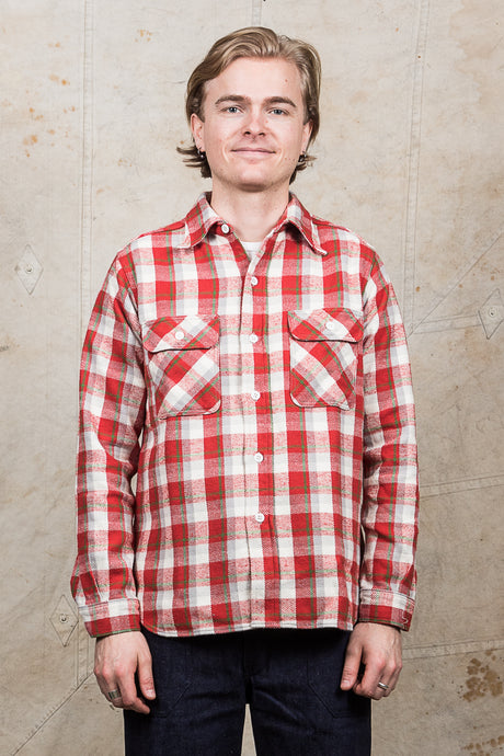Warehouse & Co Heavy Flannel Shirt Red White