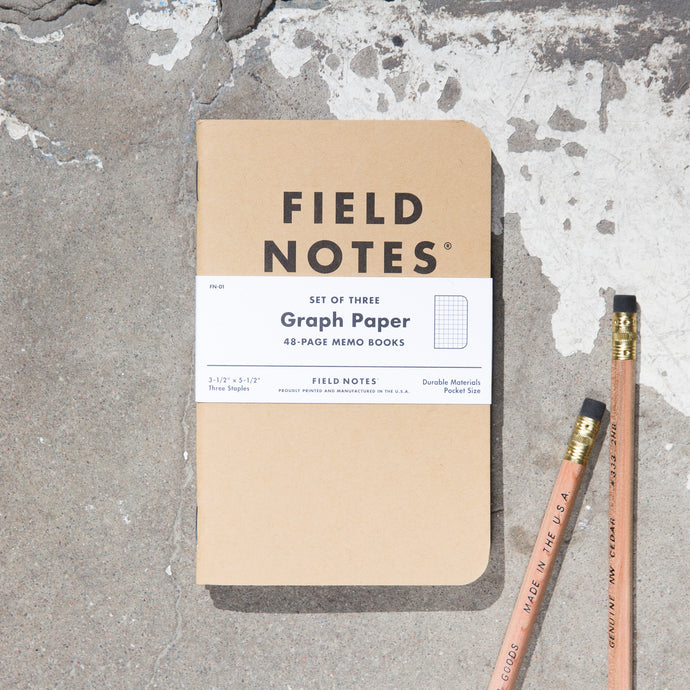 Field Notes 3-Pack Graph Paper