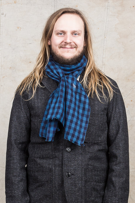 Burgus Plus & Co. Supima Cotton Block Check Stole