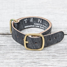 Tender Nato Watch Strap Natural Black Wattle Leather 20 mm