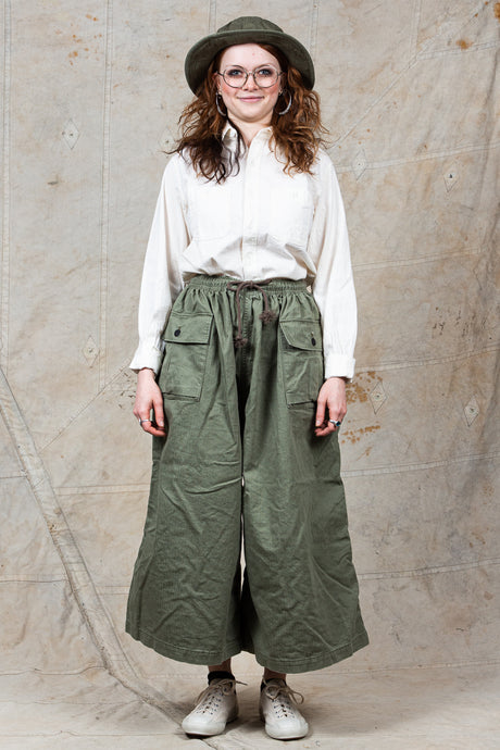 OrSlow Cotton HBT Wide Leg Trousers