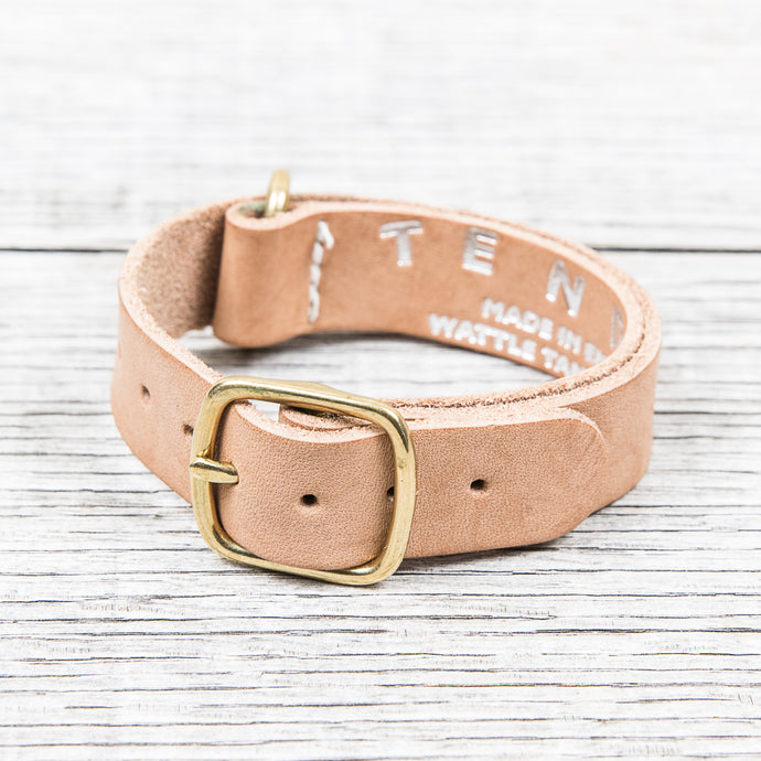 Tender Nato Watch Strap Natural Tan Wattle Leather 20 mm