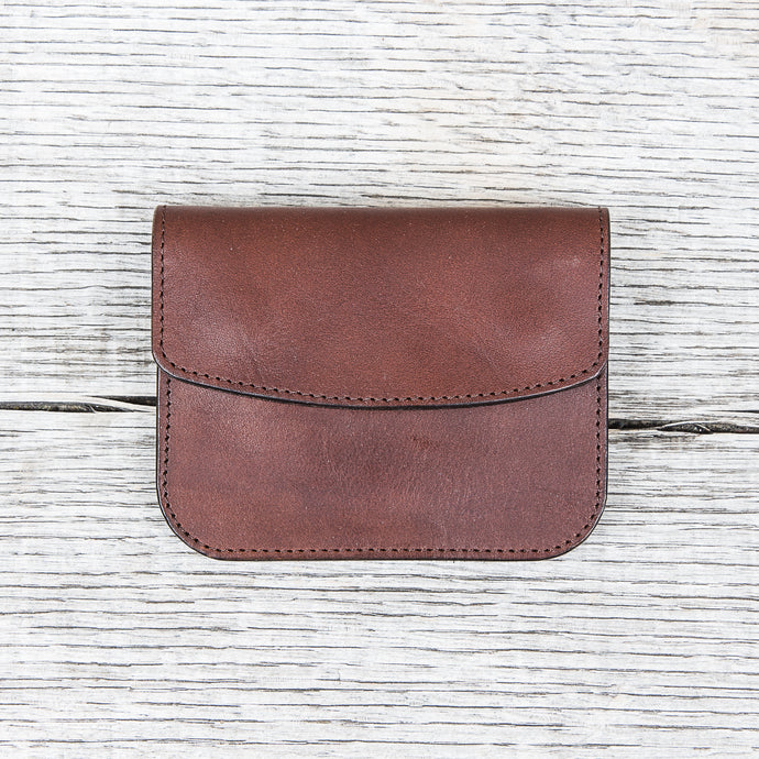 Obbi Good Label Short Yankee Wallet Dark Brown