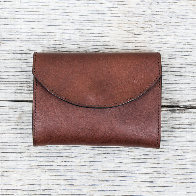Obbi Good Label Trifold Yankee Wallet Dark Brown
