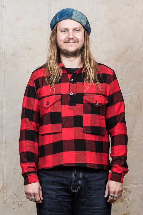 Indigofera Terrence Closed Front Shirt Buffalo Plaid