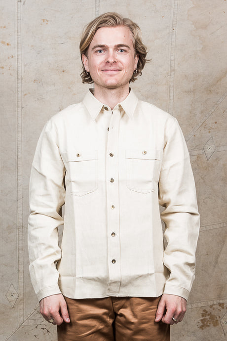 Indigofera Holden Shirt White Twill