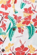 Sun Surf Rayon Hawaiian Shirt Sweet Plumeria White
