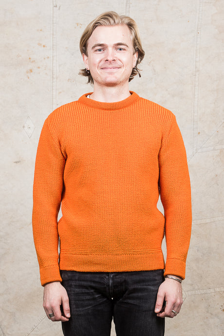 Heimat Crew Neck Wool Sweater Orange